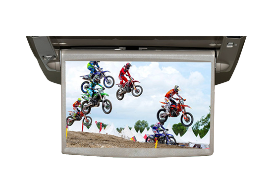 motorbike racing in a monitor